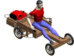 Free Go-Kart Plans :: How to build a wooden go-kart powered by a lawnmower engine!