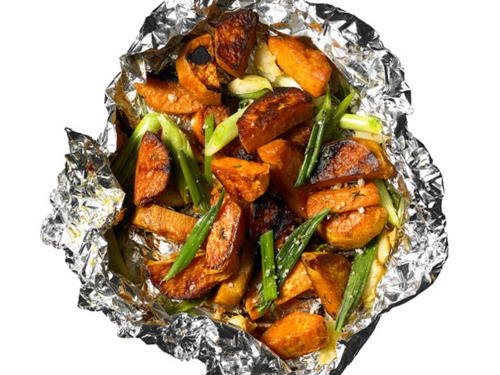 Grilled Scallion Sweet Potatoes | Food | Dinner | Pinterest