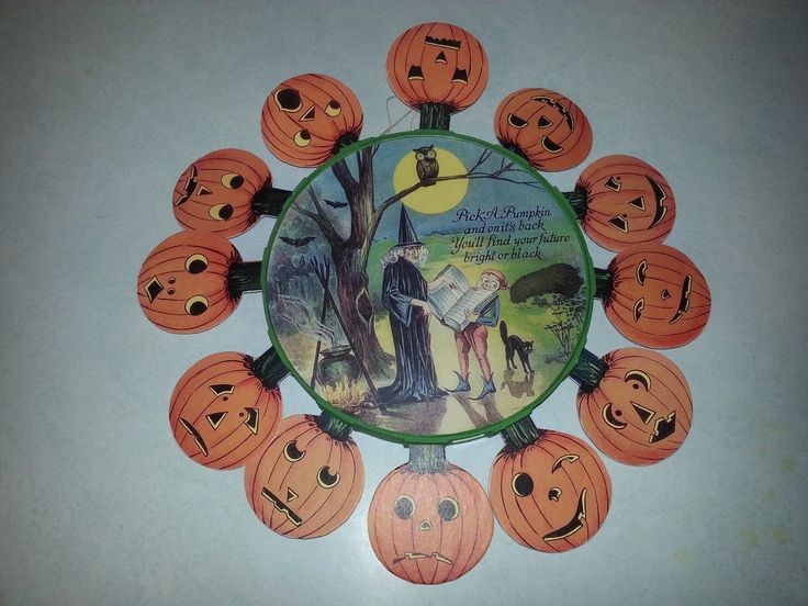 Bethany Lowe Vintage Hobgoblins by Bruce Elsass Pick A Pumpkin Future Teller | eBay