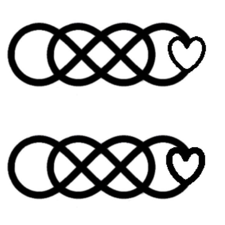 Double infinity tattoo. Which do you guys like better. Thinner or thinker heart