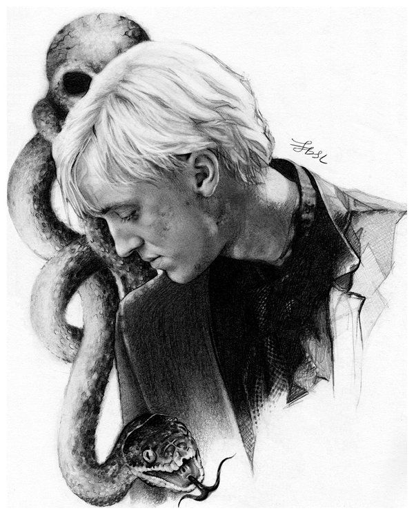 Draco Malfoy By Finangel Drawing Harry Potter Draco Malfoy