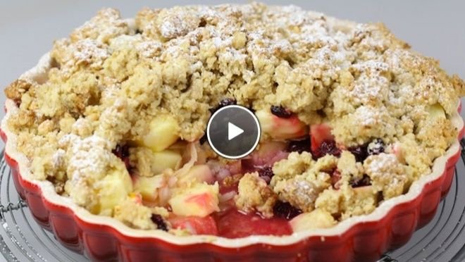 Apple crumble - recept | 24Kitchen. Very delicious. A sweet and sour dessert, so not overly sweet. 4/5