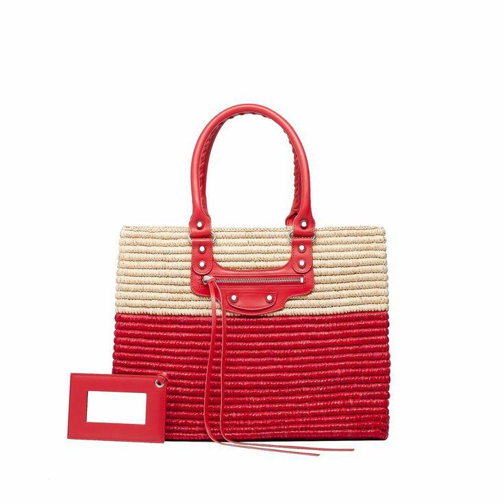 Balenciaga Panier Shopping Basket XS Balenciaga - Totes Women color Red/Natural - Handbags Balenciaga