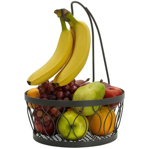 Gourmet Basics Rustic Farmstand Fruit Basket With Banana Hook ($20) ❤ Liked  On Polyvore