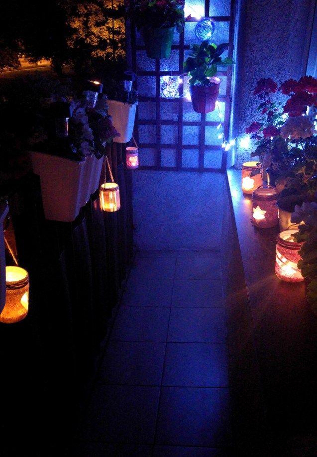 Romantyczny klimat i nastrój, a to tylko dzięki słoikom! Zapraszamy po instrukcje DIY na blog na lampion DIY! #candles #romantic #zróbtosam