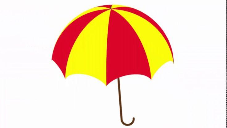 Umbrella - Adobe Illustrator cs6 tutorial. How to draw simple parasol or...
