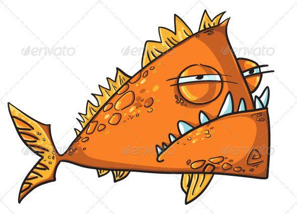 Vectors - Big Angry Fish Cartoon | GraphicRiver