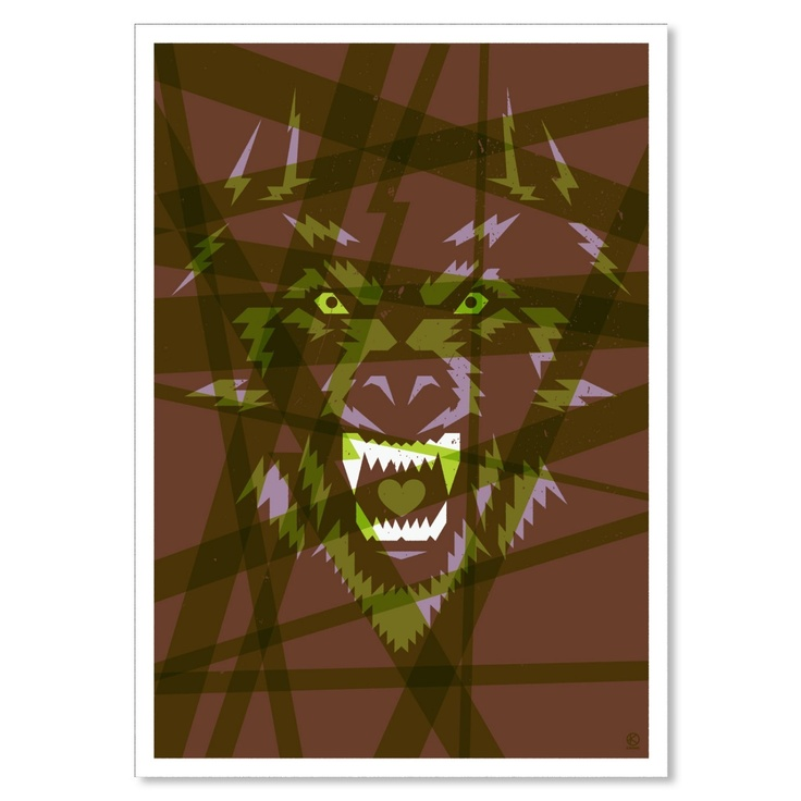 Vinyl Destination - Wolf – Kronk, $33.00 / R294   (http://store.vinyldestination.co.za/prints/wolf-kronk/)
