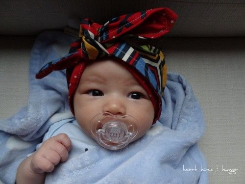 Wanna make a rockabilly head scarf for your baby? Here's how you do it | Offbeat Families. i want to do this so bad!!
