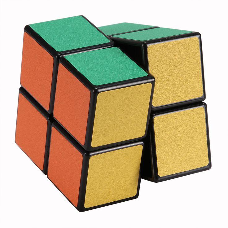 MAGICO CUBE 2x2x2 PVC NERO SUPER LISCIO velocità Cubo di Rubik Cube 2 strati