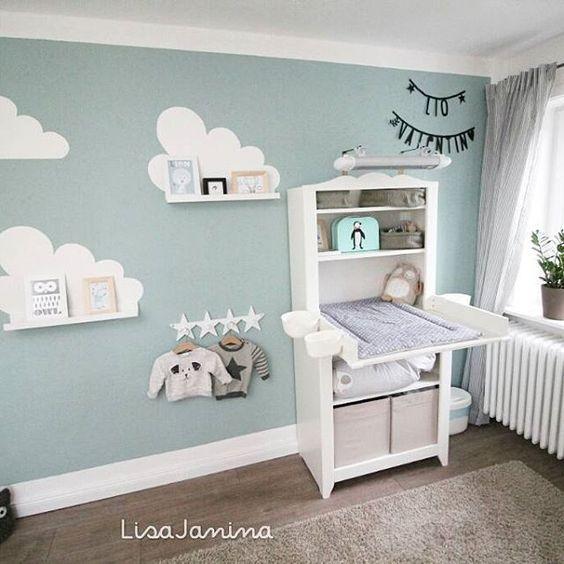 """On craque pour cette chambre bébé aux couleurs pastels. Idéal avec notre thème """"Menthe à l'eau"""""""