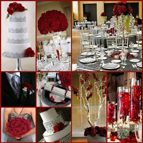 red and gray wedding themes - Yahoo Search Results