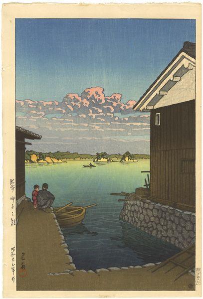 Morning in Yobuko, Hizen by Kawase Hasui /   肥前 呼子の朝 川瀬巴水