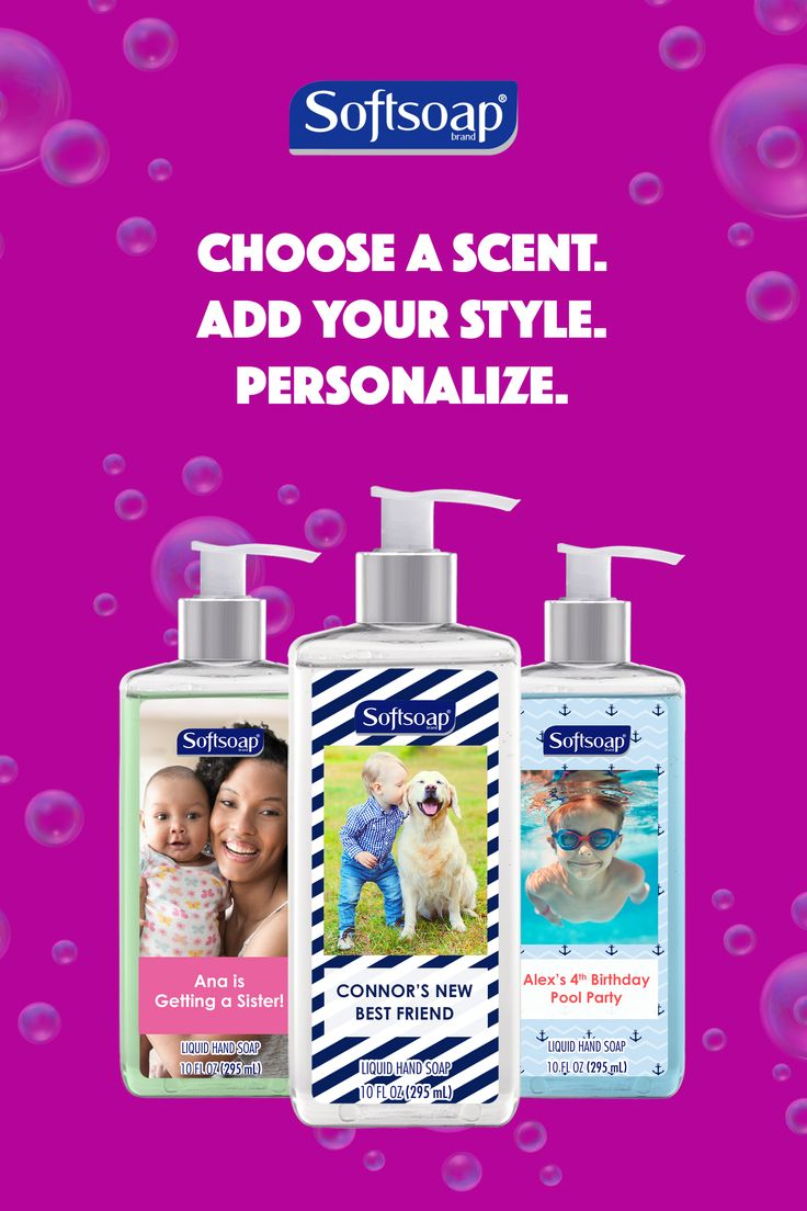 Design your own Softsoap® bottle in three easy steps! Create yours today at mysoftsoap.com.