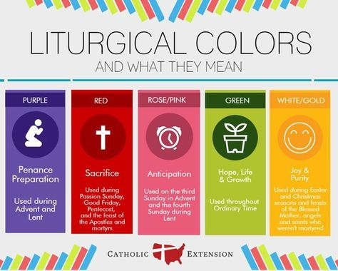 An useful infographic by our friends at Catholic Extension to learn about the liturgical colors and their meaning.