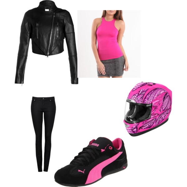 """""""Motorcycle Outfit"""" by heather-kresge on Polyvore"""