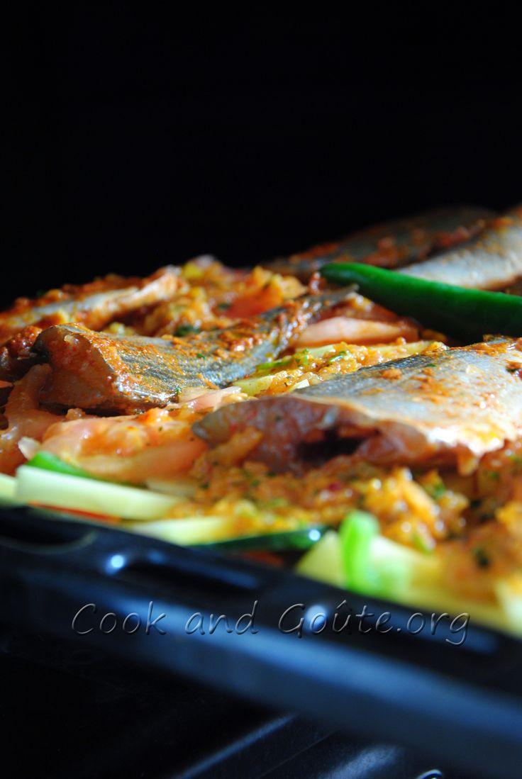 Daurade aux légumes grillés sur le lèche frite