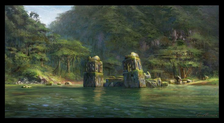 Sunken City - Uncharted: Drake's Fortune Concept Art