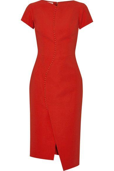 Antonio Berardi | Button-embellished stretch-crepe dress | NET-A-PORTER.COM