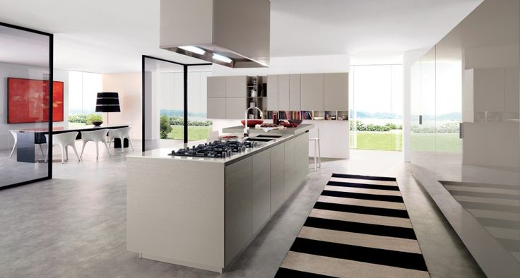 Modular kitchens elegant and linear  FiloE25 and E25 are high-end kitchens that are distinguished by the excellence of aesthetic innovations, the modularity and precious materials. In fact they are available in both oak matter, both in Ash Touch, both lacquered glossy and matt. FiloE25 with elegance and linearity of the profile groove and thus the absence of the handle give the solution a high-fashion look. With E25 volumes, frontal and plans are linked in perfect harmony.