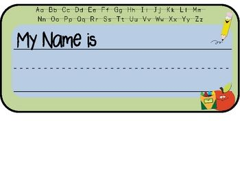 Enjoy this free Desk Name Plate!Suggestion:  print on cardstock and laminate after writing students' names. ...