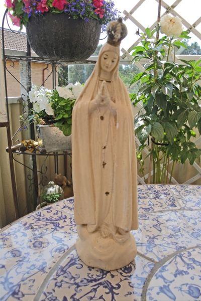 Antik Bekrönt Jungfru Maria
