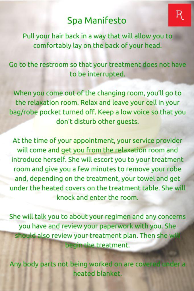 Spa Manifesto 2   Www.redlettereveryday.com @RLEveryday