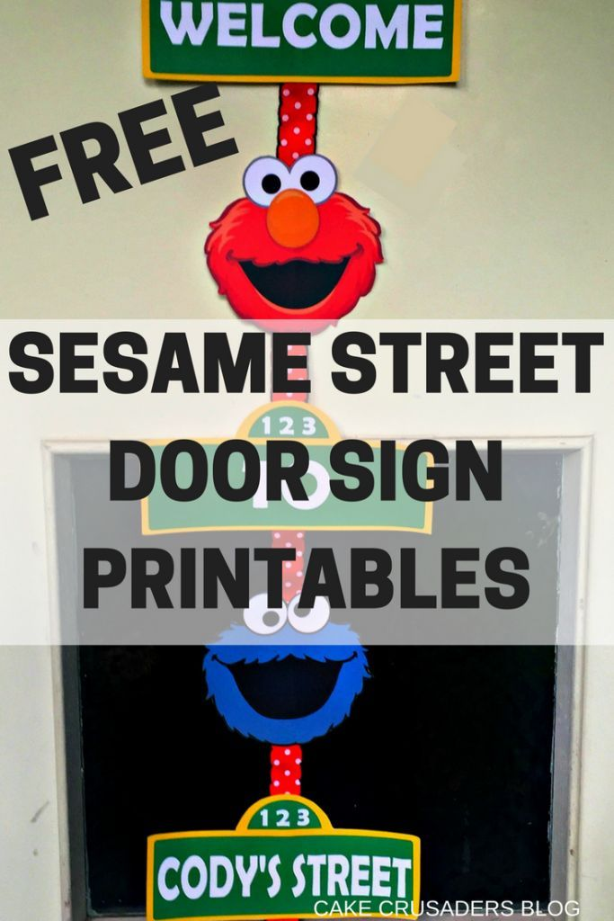 How to make a Sesame Street Door Sign with FREE Printables | Cakecrusadersblog.com
