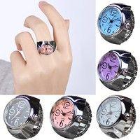 Wish | Popular Dial Quartz Analog Watch Creative Steel Cool Elastic Quartz Finger Ring Watch