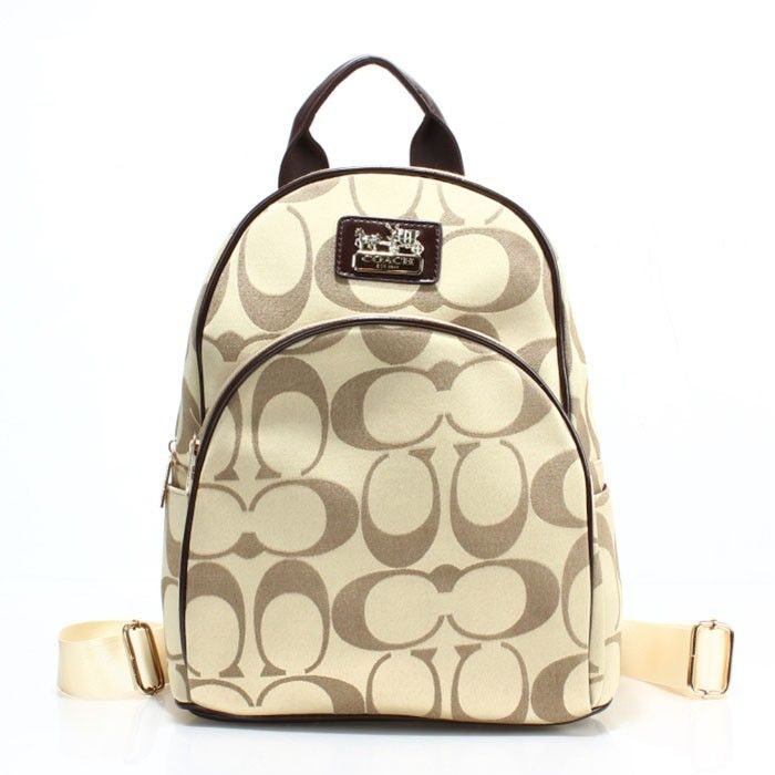 Coach Logo Monogram LZ701 Backpack In Apcicot