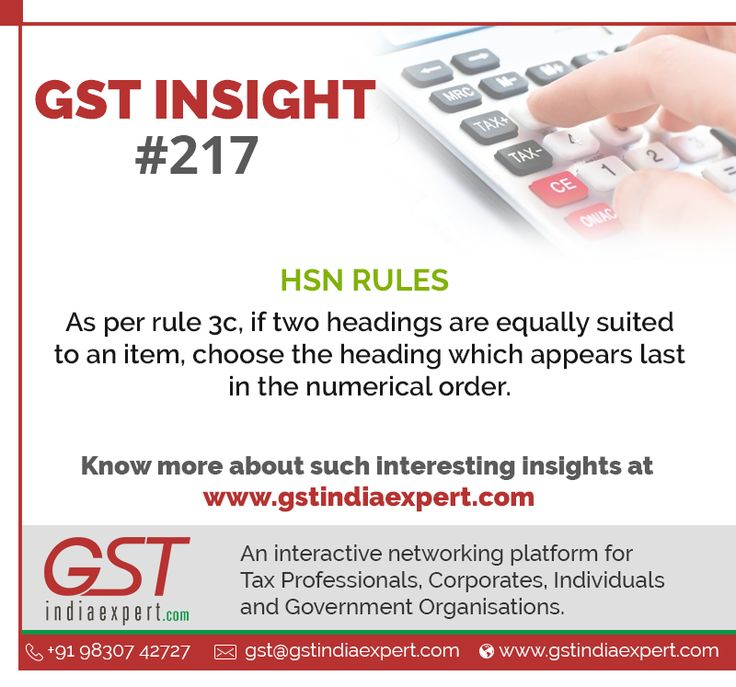 Check the latest HSN Rules of GST GSTInsight