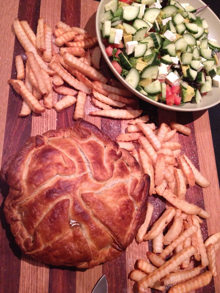 Leftover meat pie