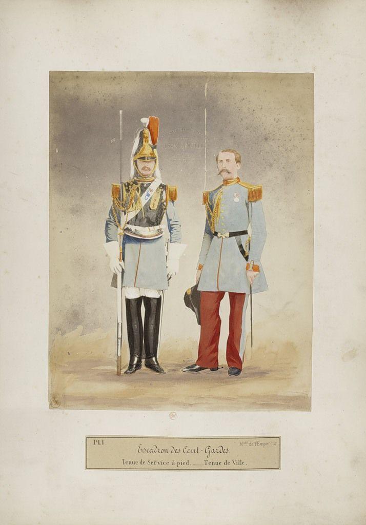 french imperial guard cent garde squadron tenue de service a pied tenue de ville 1866. Black Bedroom Furniture Sets. Home Design Ideas