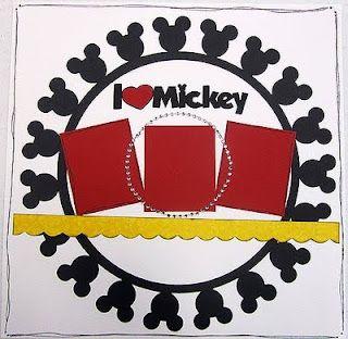Mickey! Disney scrapbook layout