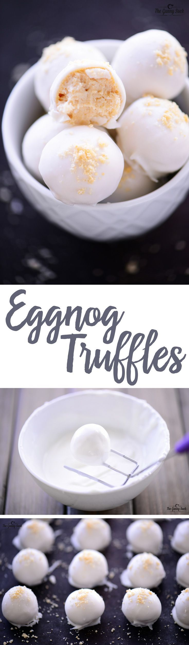 Eggnog Truffles are no bake, holiday cookies that are delicious and easy to make. Add them to your Christmas baking list for the times when your oven is full!