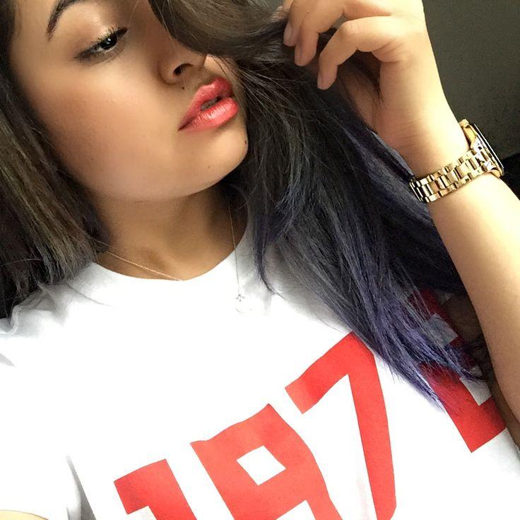 Just bought a new top!  love my 1972 #1972 #me #purplehair #selfie #streetstyle #streetphotography #michaelkors #maccosmetics #makeup #monday #mood #instalike #instagood #blogger #vlogger #fashion #fashionblogger #topshop