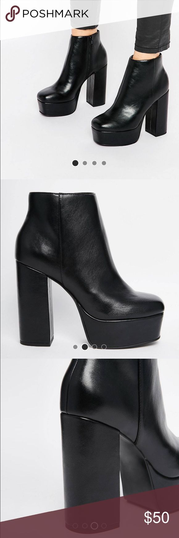 NWT in box ASOS ELLEN PLATFORM BOOT brand new in box. Too big on me and missed the return window ASOS Shoes Platforms