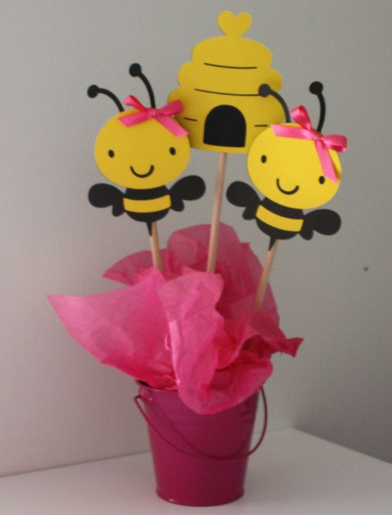 Bumble Bee Table Centerpiece by yadyscreations on Etsy, $5.00