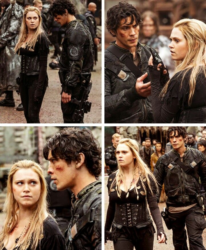 The 100 Season 4 BELLARKE ❤️❤️❤️ I can't wait to see how they are going to deal the war with basically everyone