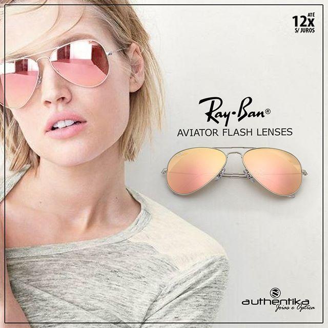 Ray Ban Aviator Espejo Rosa