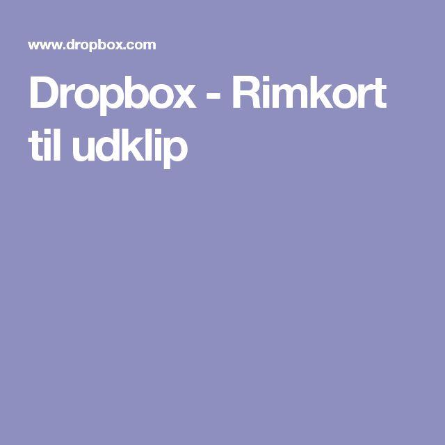 Dropbox - Rimkort til udklip