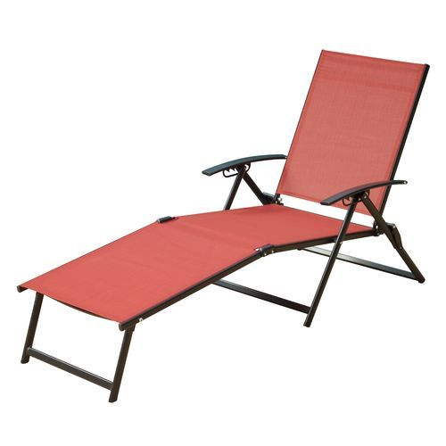 Image For Mosaic Folding Sling Chaise Lounge From Academy