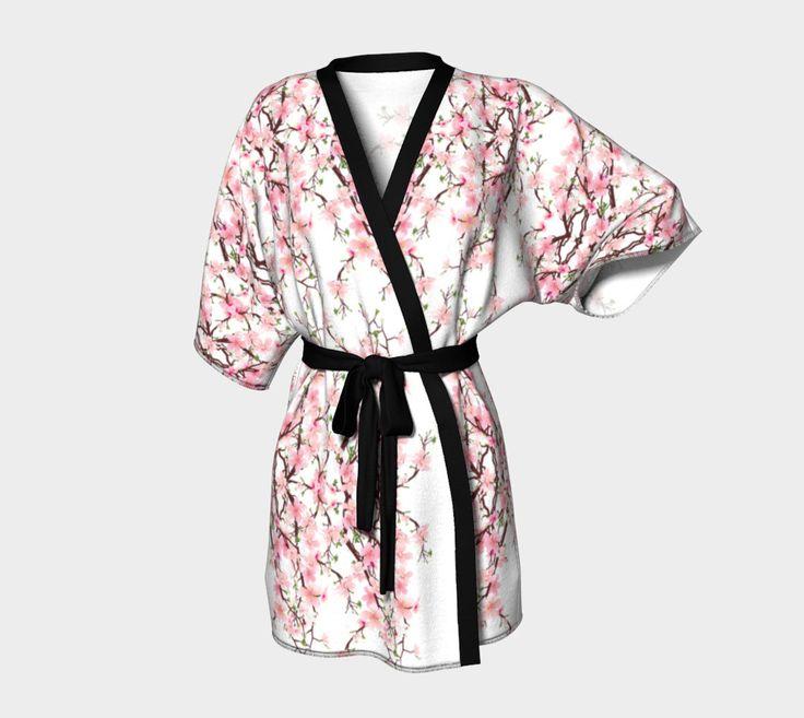 Kimono Robe and headband combo custom printed womens girls kimono contrast belt and piping bridal party robe bridesmaids headband and kimono