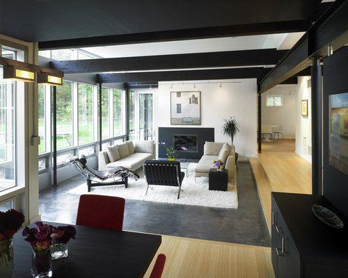 New England Contemporary Living Room & Dining Room - contemporary - living room - boston - LDa Architecture & Interiors