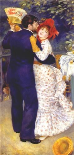 Dance in the Country - Pierre-Auguste Renoir / Completion Date: 1883 / Gallery: Musée d'Orsay, Paris, France