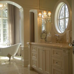 I also love a more traditional bathroom like this, maybe for my baster this would be best?? The kitchen guy can also design all of the vanities