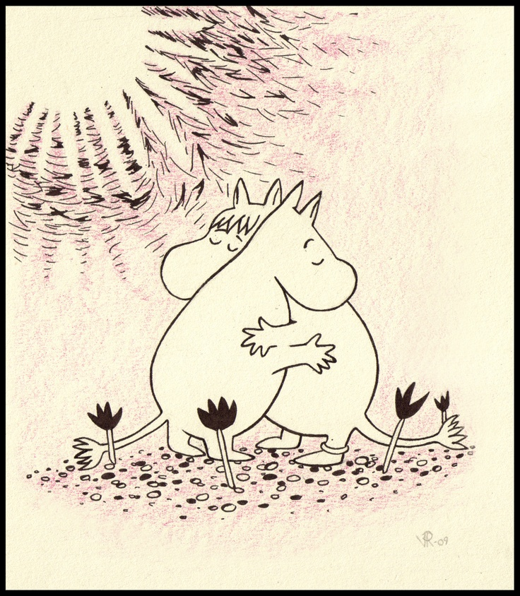 Nawww, just look at how happy Moomin and the Snork Maiden are. They love each other.