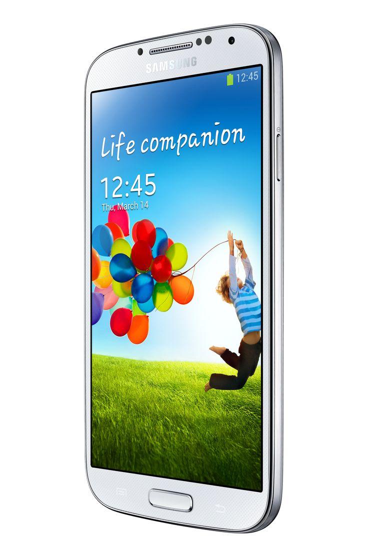 Samsung Galaxy S4 angled.