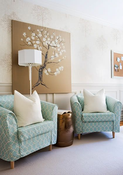 chairs: Wall Art, Idea, Living Rooms, Chairs Fabrics, Color, Ikea Chairs, Club Chairs, Samantha Pynn, Sit Rooms