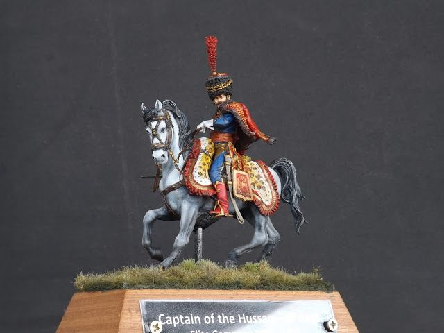 Captain of the Hussars, Elite Company 1806 - 1812 - Pegaso Miniatures 75mm